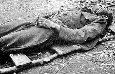 Погибший венгерский солдат на Донском фронте. Сентябрь 1942 г.