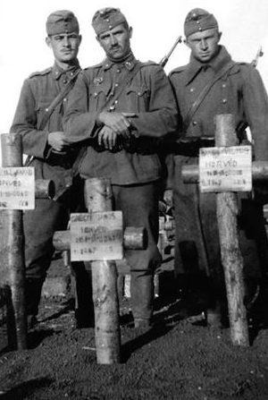 Могилы венгерских солдат у Дона. 1942 г.