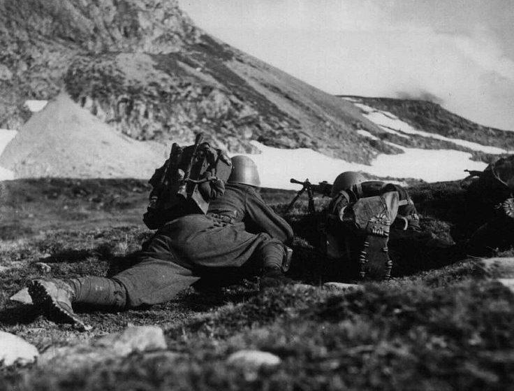 Итальянские войска во французских Альпах. Июнь 1940 г.