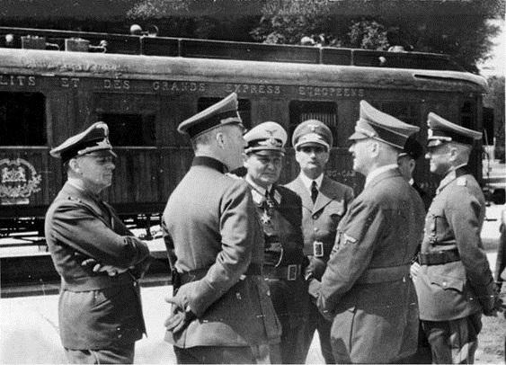 Капитуляция Франции в Компьенском лесу. 22 июня 1940 г.
