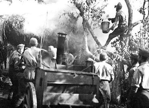 Полевые кухни венгерской армии на Восточном фронте. 1942 г.