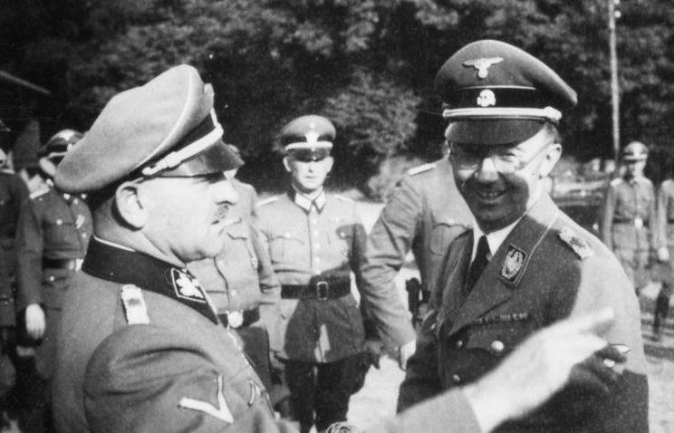 Гиммлер посещает Мец. 1940 г.