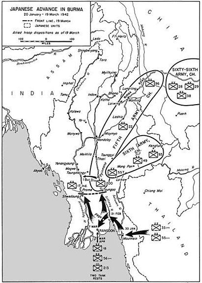 Японское наступление, январь – март 1942 г.