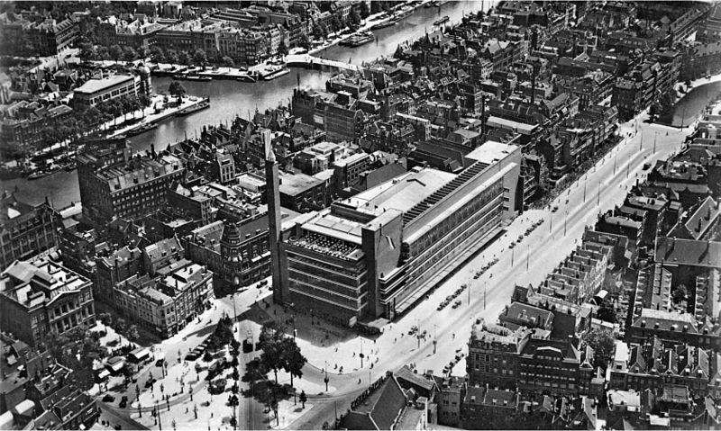 Центр Роттердама в 1930 году.