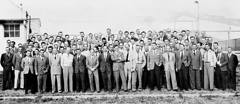 Группа из 104 немецких ракетостроителей в Форт Блисс, Техас.