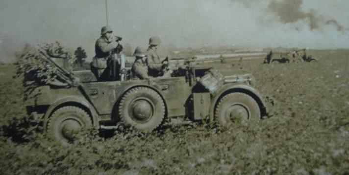 Немецкие войска на подступах к Краснодару. Август 1942 г.