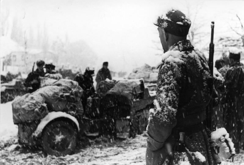 Немецкие мотострелковые войска под Орджоникидзе.