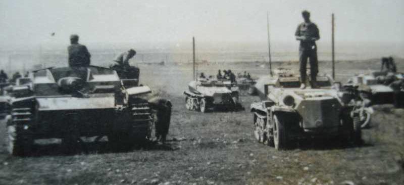 Немецкие войска на подступах к Краснодару.