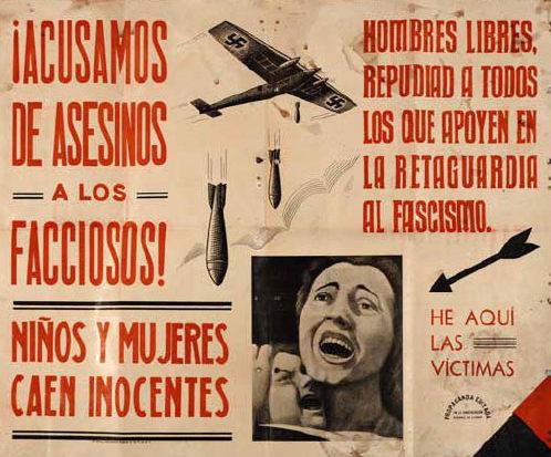 Республиканский плакат, выпущенный после бомбардировки Герники.