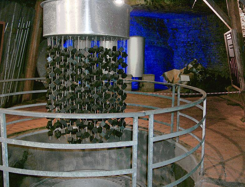 Копия ядерного реактора «B VIII» в музее Хайгерлох.