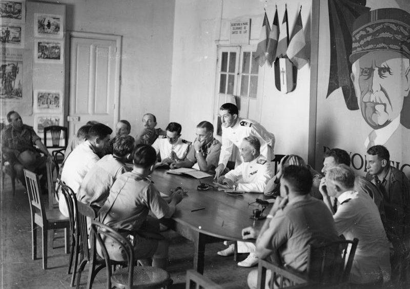 Переговоры о капитуляции французов.
