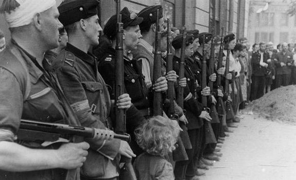 Почётный взвод батальона «Kiliński». Сентябрь 1944 г.