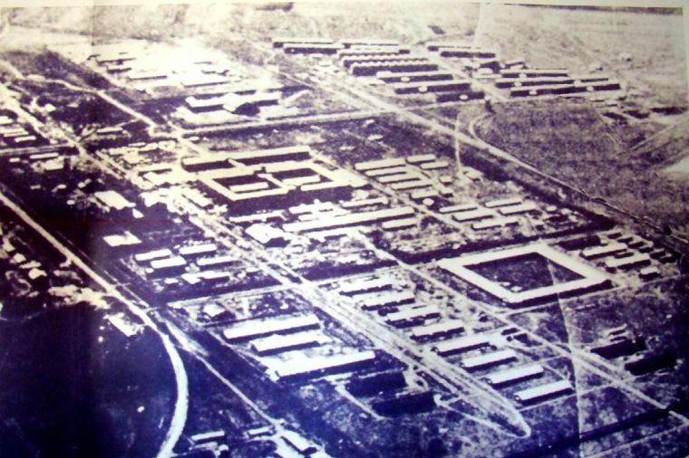 Комплекс зданий «Отряда 731» с высоты.