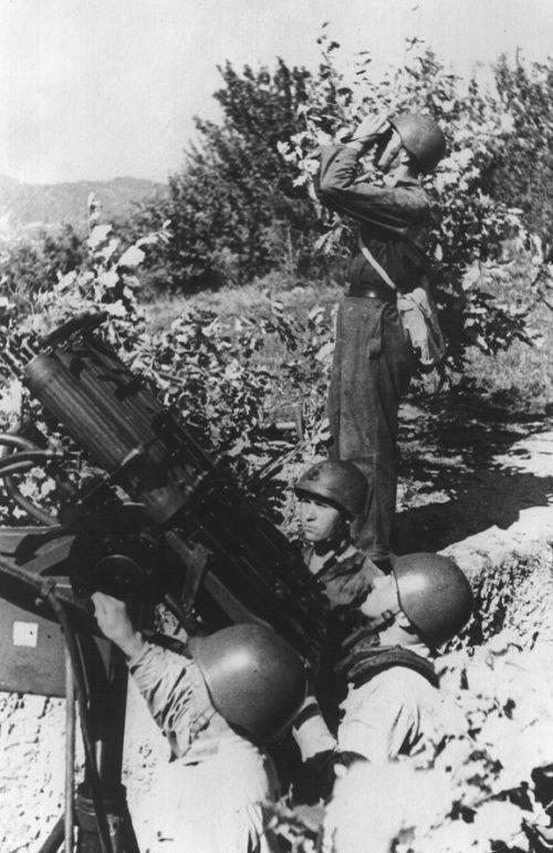 Зенитчики в обороне. Август 1942 г.