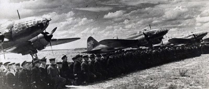 5-й гвардейский авиационный полк ВВС Черноморского флота. Майкоп, 1942 г.