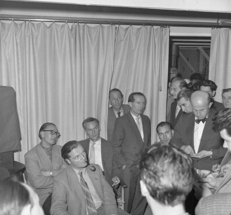 Немецкие ученые, репатриированные из Сухуми. Февраль 1958 г.