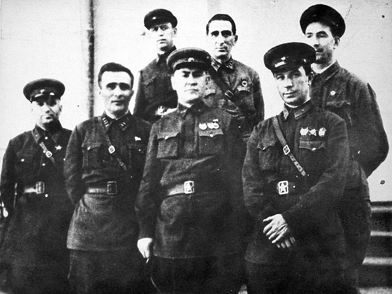 Члены Военного совета 37-й армии. Октябрь 1942 г.