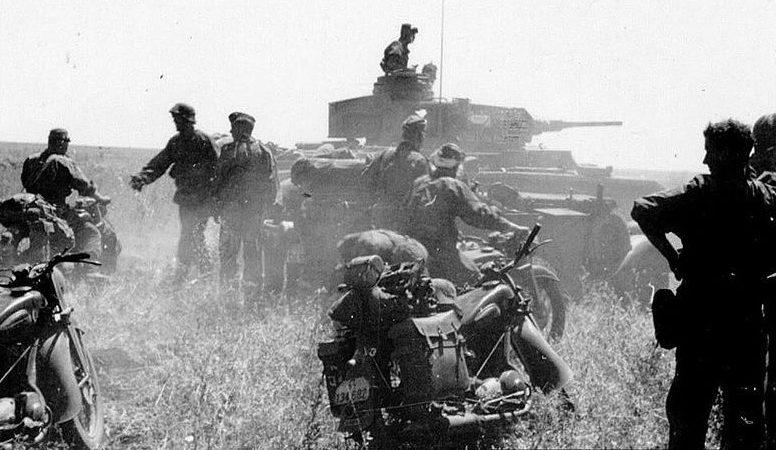 Немецкое наступление в районе Майкопа. Август 1942 г.