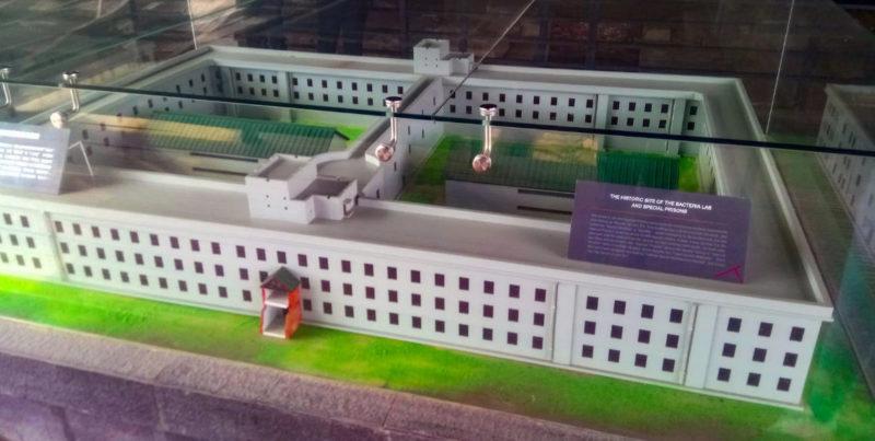 Макет главной тюрьмы-лаборатории.