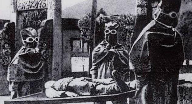 Японский персонал на территории «Отряда 731».