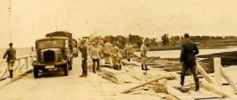 Немецкий временный мост через Десну. 1941 г.