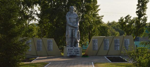 с. Алейниково Алексеевского городского округа. Памятник по улице Центральная 16, установленный советским воинам-землякам, не вернувшимся с войны.