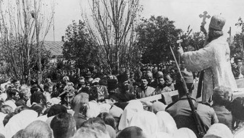Публичное богослужение. Сентябрь 1941 г.