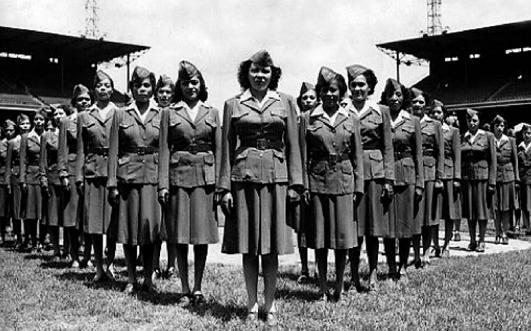 Чернокожие военнослужащие WAC в форте Ливенвор. 1943 г.