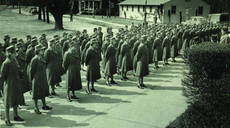 67-й отряд WAC доложил в Форте Вашингтон. Март 1943 г.
