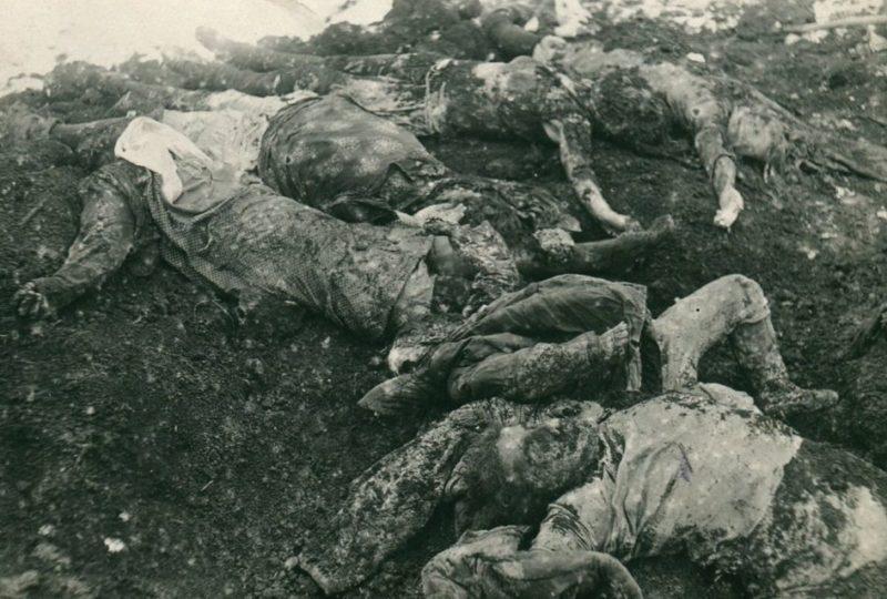 Заложники – женщины и дети - расстрелянные немецкими оккупантами. 23 января 1943 г.