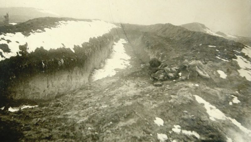 Противотанковый ров - место массового расстрела жителей Нальчика. Январь 1943 г.