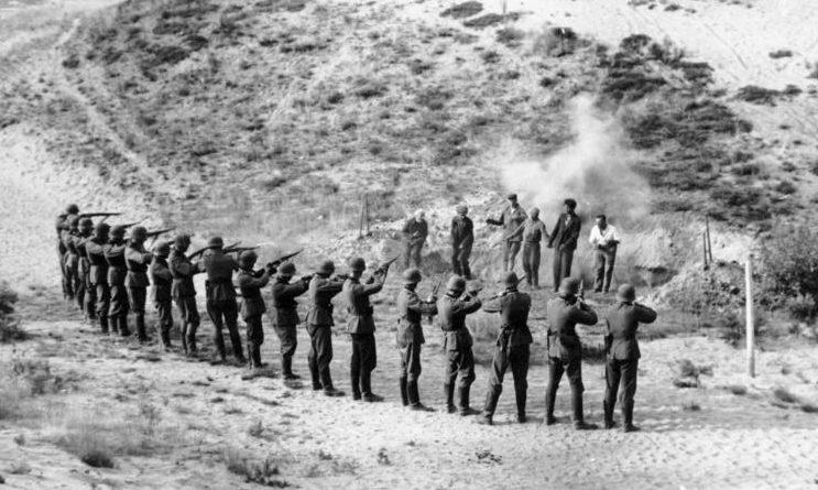 Расстрел советских партизан. Сентябрь 1941 г.