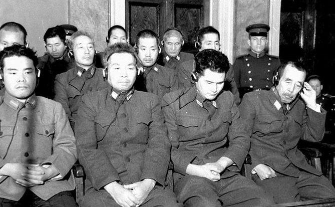 Сотрудники «Отряда 731» на Хабаровском процессе в СССР.