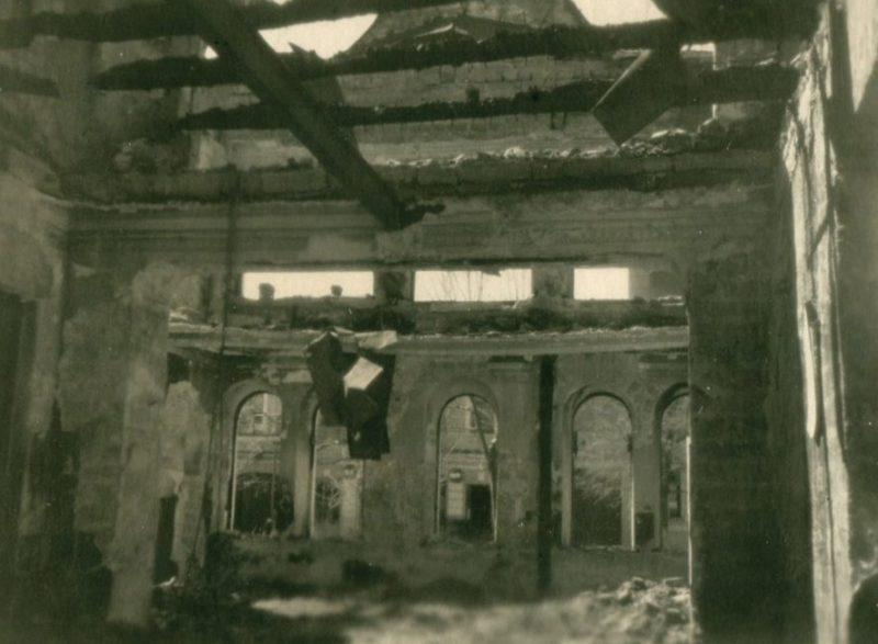 Остатки здания городской почты и телеграфа. Март 1943 г.