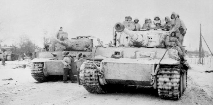 Немецкие «Тигры» у Бердичева. Ноябрь 1943 г.