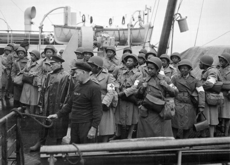 Вновь прибывшие медсестры армии. Гринок, Шотландия, август 1944 г.