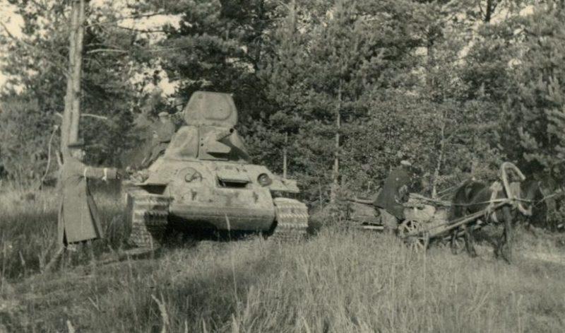 Совместные антипартизанские рейды РОНА с немцами.