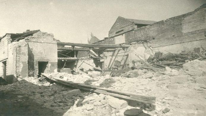 Разрушенный хлебзавод. 1943 г.