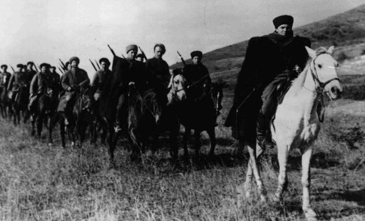 Немецкое казачье подразделение у Майкопа. 1942г.