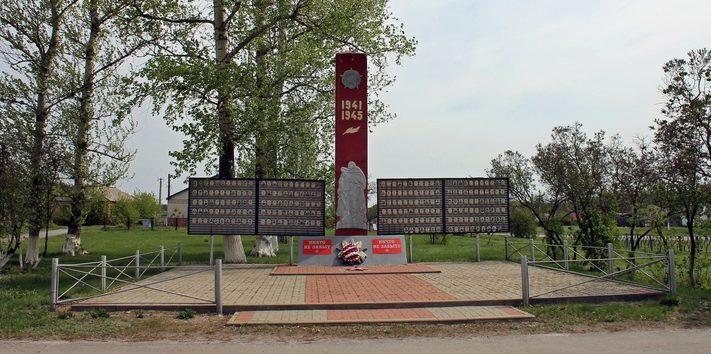 с. Новопетровка Валуйского городского округа. Мемориал в честь земляков, погибших в годы войны.