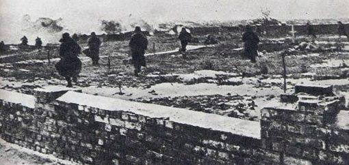 Бой на окраине города. Январь 1944 г.