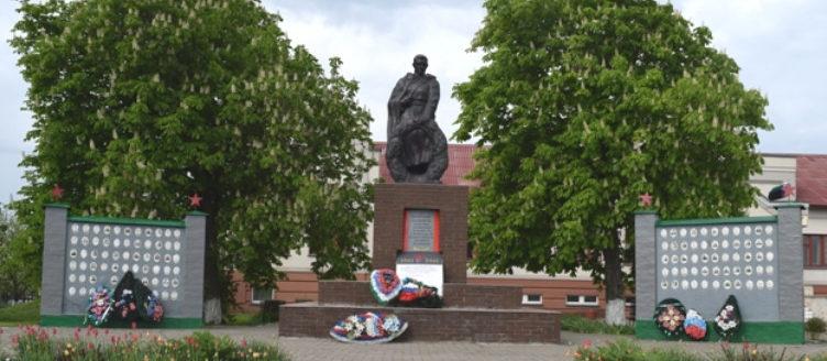 с. Тимоново Валуйского городского округа. Памятник по улице Школьной 4а, установленный на братской могиле, в которой захоронено 6 советских воинов, погибших в 1943 году.