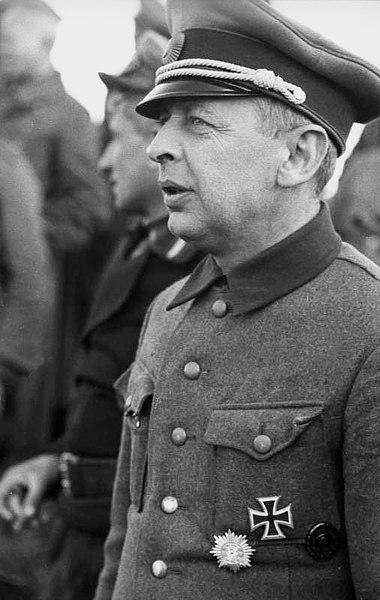 Бронислав Каминский с немецкими наградами. 1944 г.