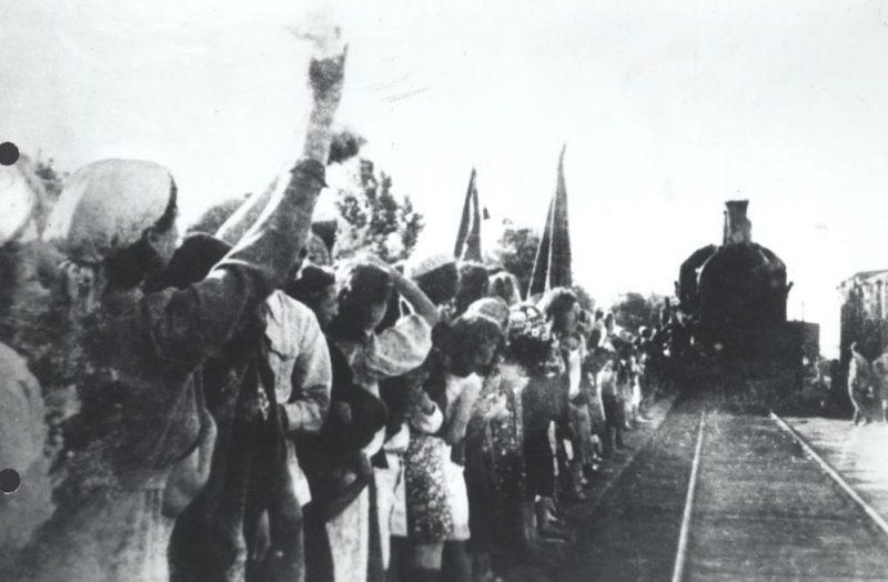 Встреча фронтовиков. Июнь 1945 г.