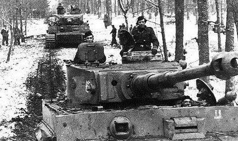 Немецкие танки у Тирасполя. Апрель 1944 г.