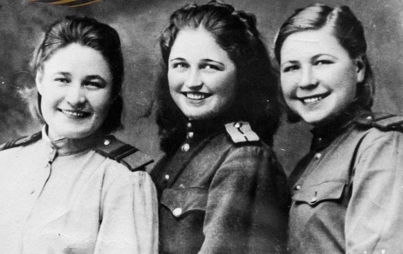 Военнослужащие 74-го отдельного батальона воздушного наблюдения, оповещения и связи, сформированного в Армавире в 1941 году. Июнь 1943 г.