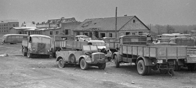 Брошенная немецкая техника. 5 января 1944 г.