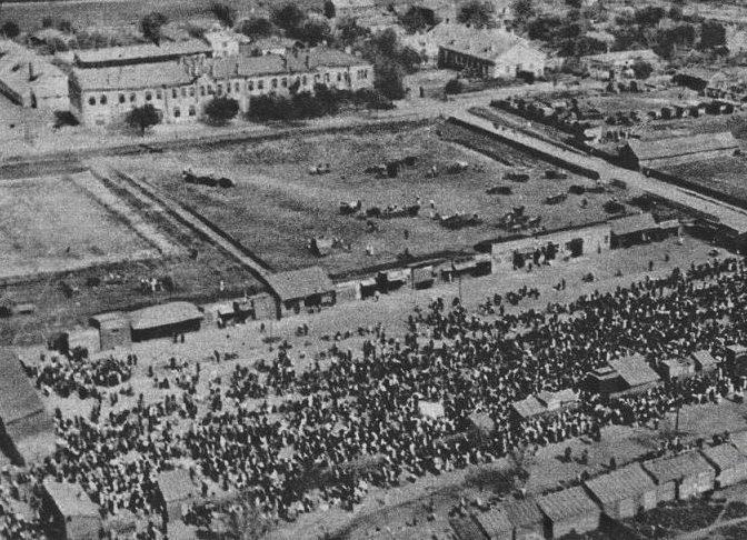 Сенной рынок с высоты. 1942 г.
