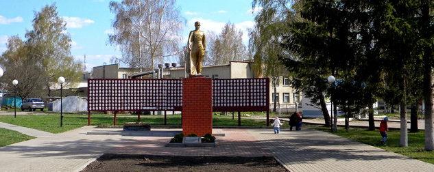 с. Бехтеевка Корочанского р-на. Памятник, установленный на братской могиле, в которой похоронено 78 советских воинов.