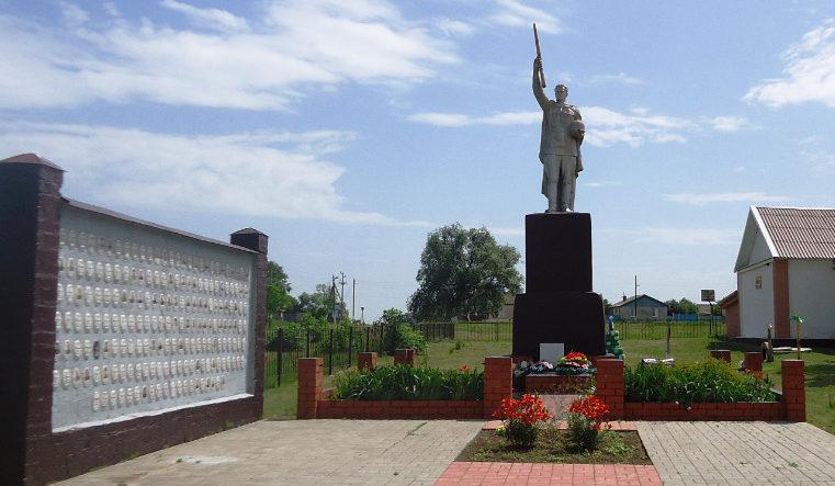 с. Хмелевец Валуйского городского округа. Памятник по улице Центральной 2а, установленный на братской могиле, в которой похоронено 3 советских воина, погибших в 1943 году.